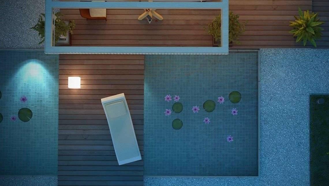 Проект небольшого аккуратного дачного коттеджа с гаражом и мансардой