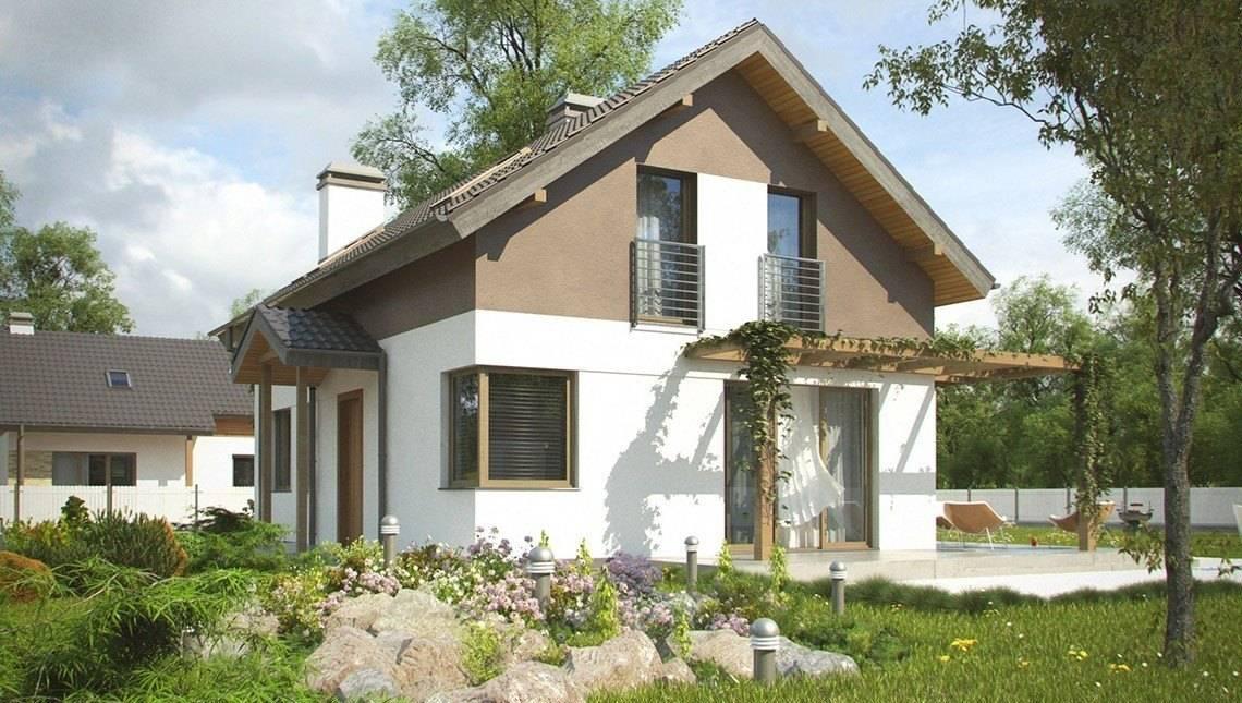 Проект небольшого дачного дома с угловым окном в кухне