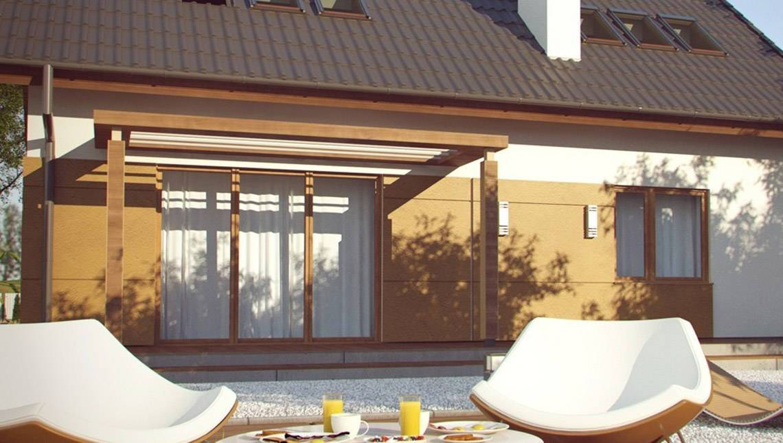 Проект энергосберегающего дома с мансардой