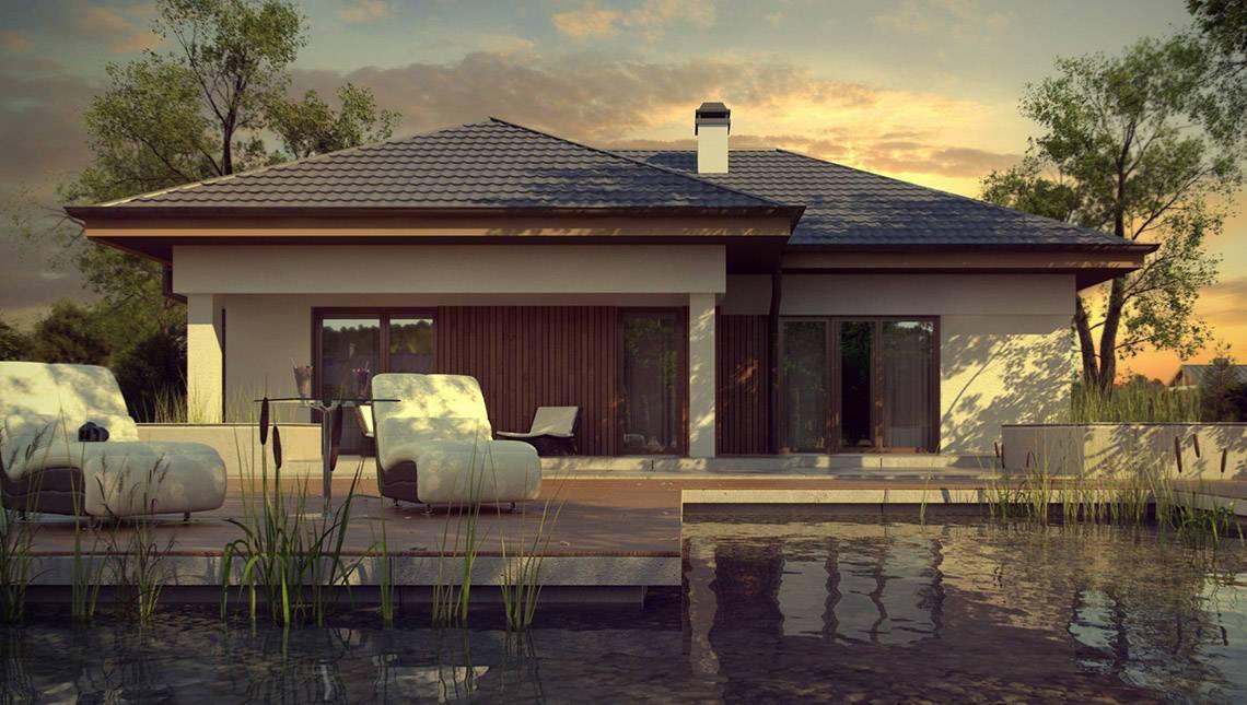 Проект стильного практичного одноэтажного дома