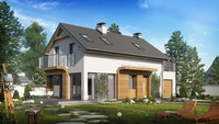 Проект дома с оригинальным фасадом для большого участка