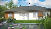 Проект классического одноэтажного дома