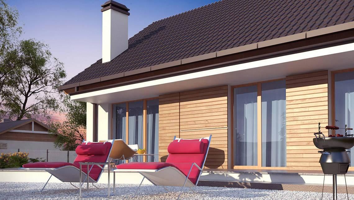 Проект одноэтажного экономичного и функционального дома