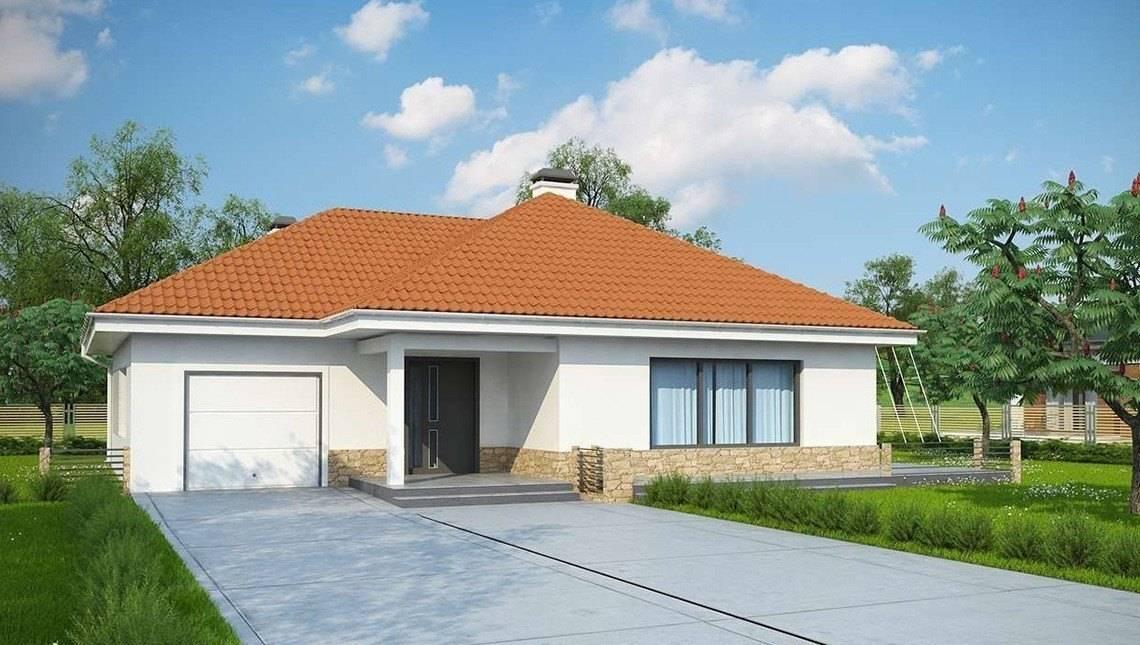 Проект небольшого дачного дома с гаражом
