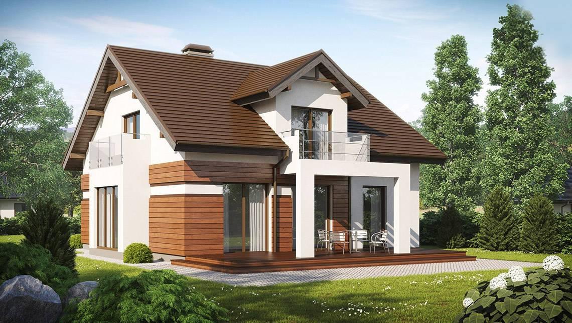 Проект дома с красивой мансардой