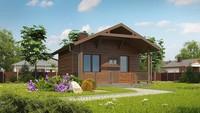 Проект комфортной бани с деревянным фасадом