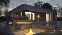 Одноэтажный коттедж с плоской крышей