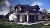Проект дома в традиционном стиле с кабинетом на первом этаже