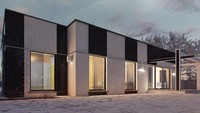 Проект практичного одноэтажного дома в стиле хай-тек