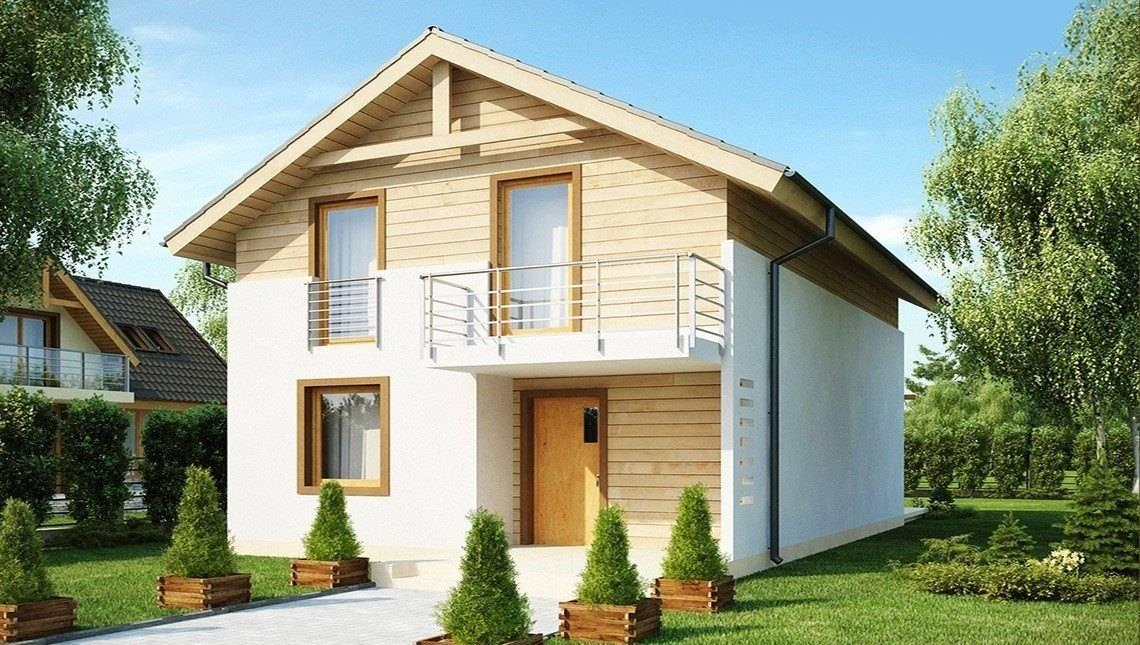Проект дома с высокой аттиковой стеной