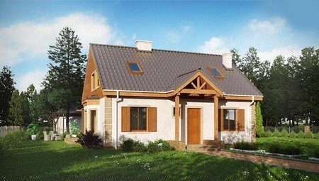 Проект компактного дома в дачном стиле