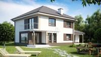 Проект двухэтажного классического дома с гаражом