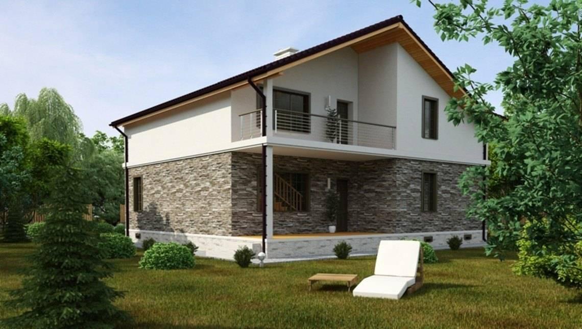 Проект дома с гаражом и дополнительной комнатой на первом этаже