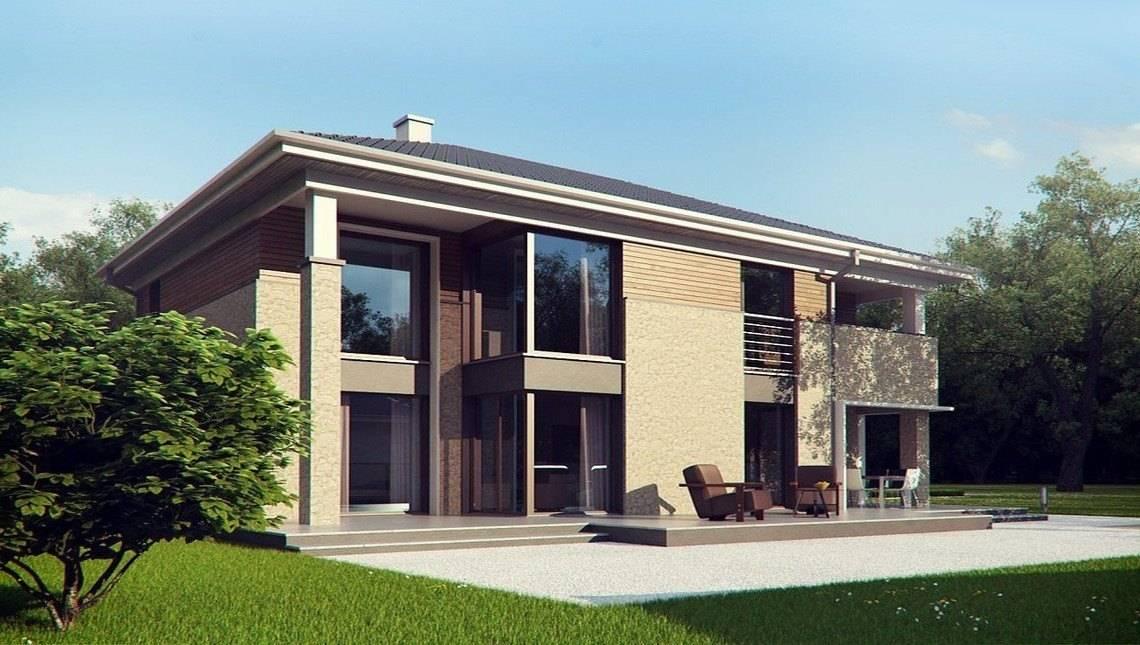 Проект современной комфортной усадьбы с баней на первом этаже