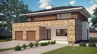 Проект просторного двухэтажного дома с сауной