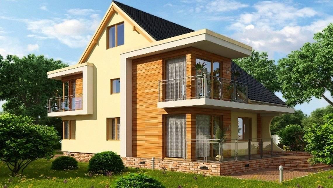 Оригинальный проект дома с мансардой и чердаком