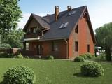 Оригинальный проект красивого коттеджа с кирпичным фасадом