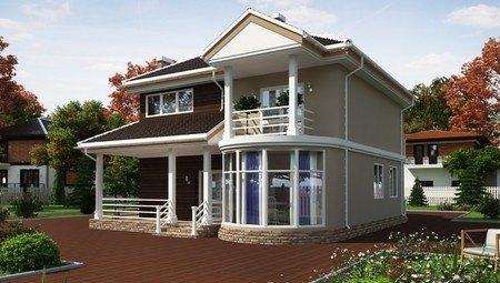 Стильный необычный двухэтажный особняк