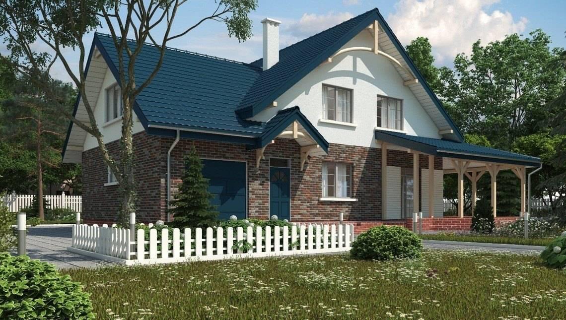 Загородный коттедж с кирпичным фасадом