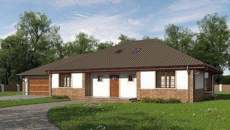 Проект традиционного большого дома с мансардой