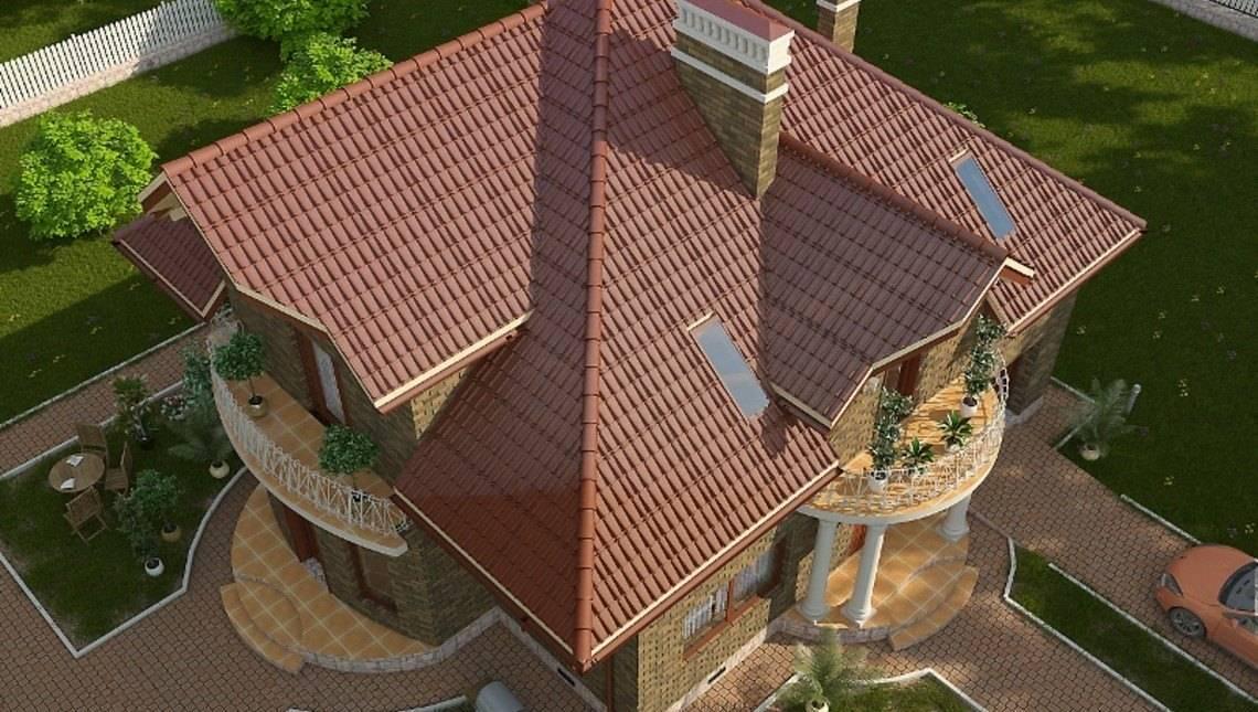 Оригинальный проект комфортного дома с мансардой