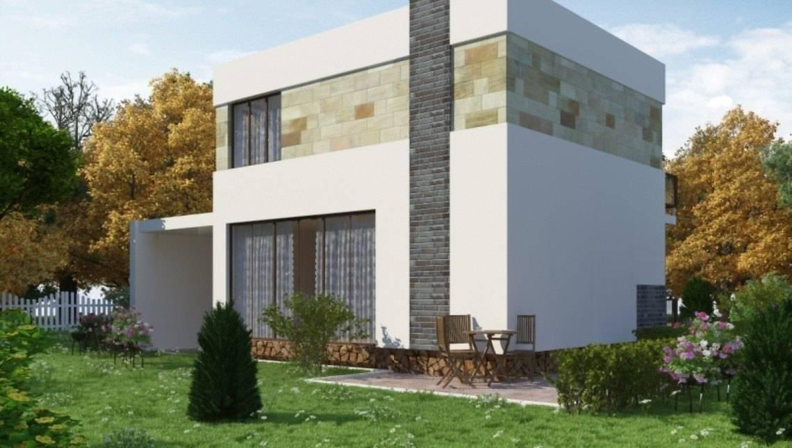 Компактный современный двухэтажный дом