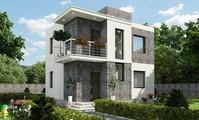 Современный дом для маленького компактного участка