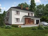 Проект двухэтажного комфортного дома с гаражом