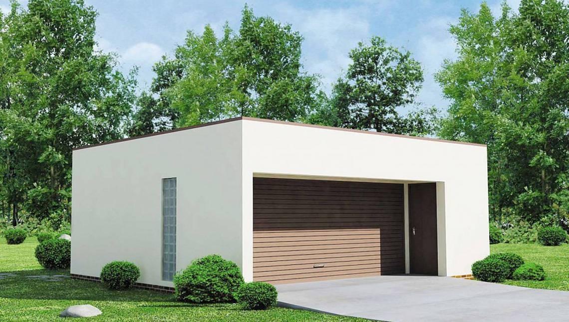 Проект современного практичного гаража из пеноблоков
