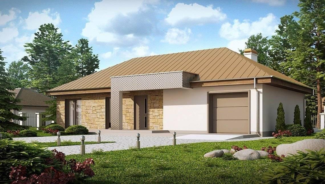 Версия одноэтажного дома по типу 4M090 с перепланировкой