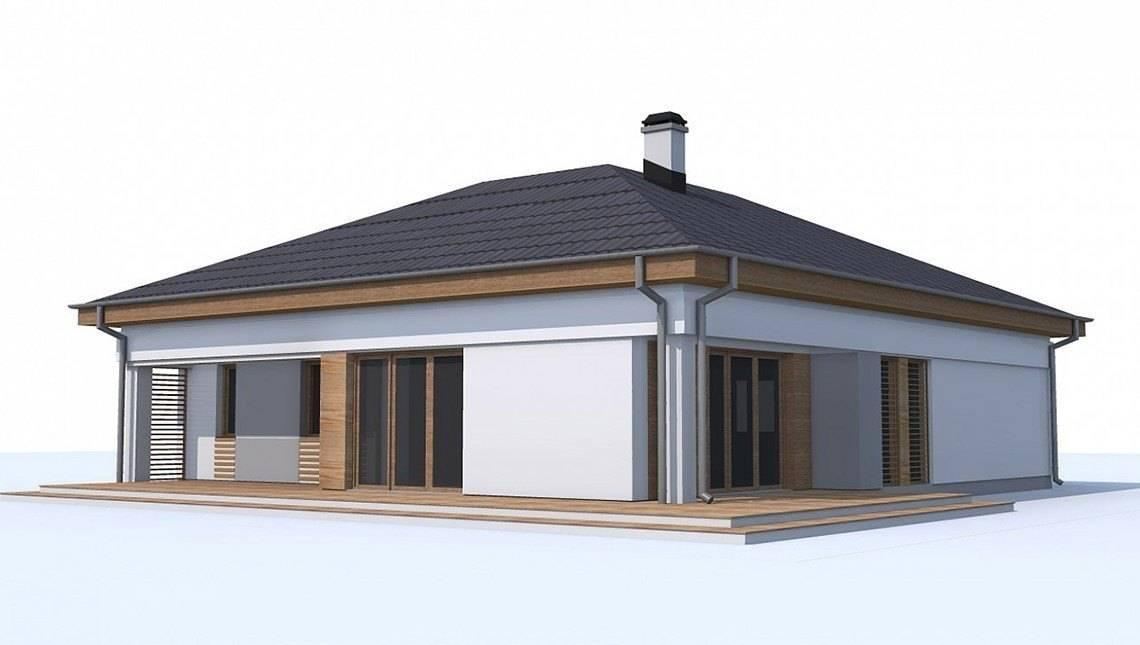 Версия проекта 4M174 без гаража с отдельным кабинетом