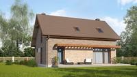 Проект загородного дома по типу 4M218 с кирпичным фасадом