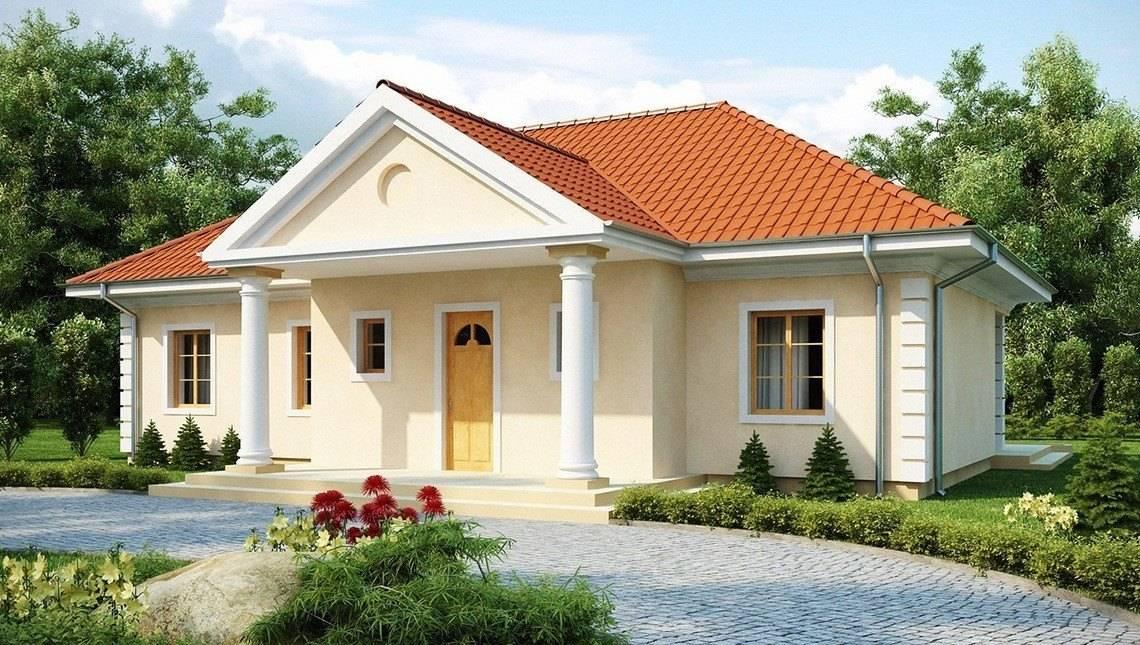 Проект дома в благородном стиле дворянской усадьбы