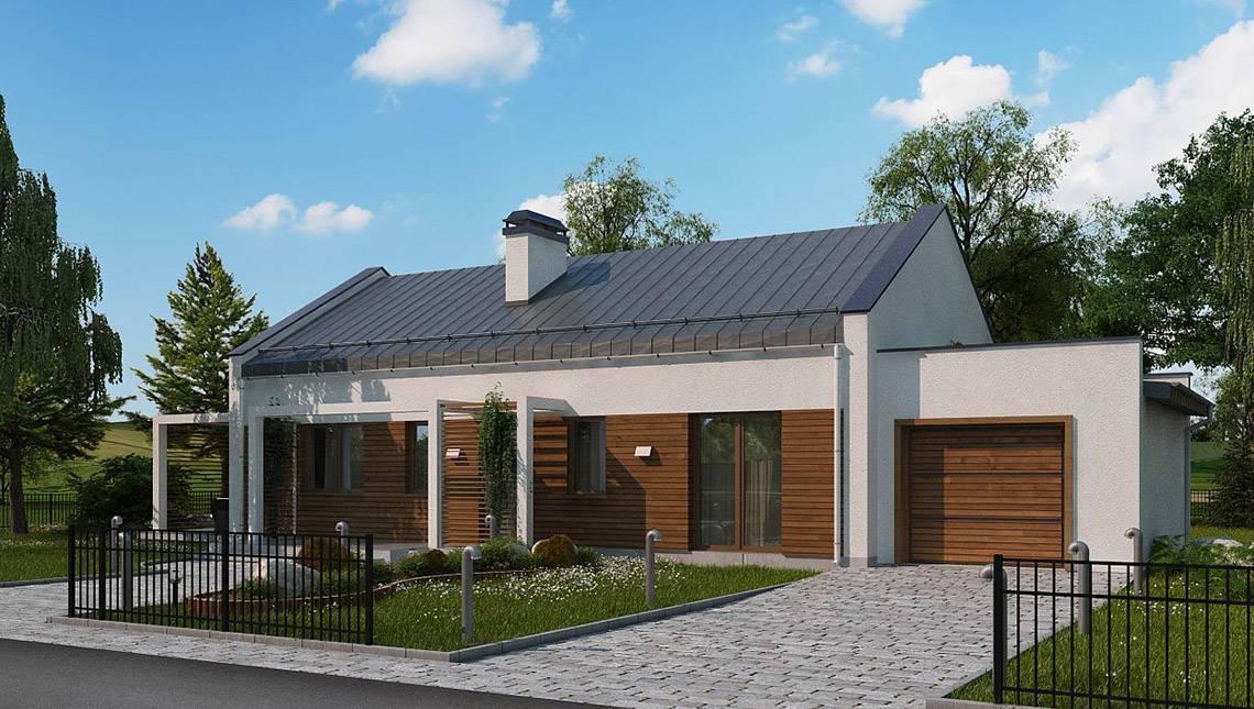 Современный загородный дом с гаражом