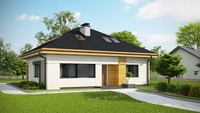 Проект дома по типу 4M314 с жилой мансардой