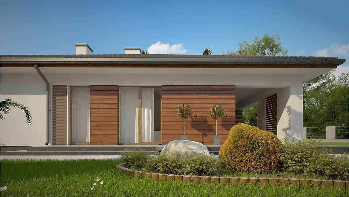 Одноэтажный дом с шикарной террасой