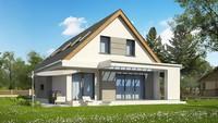 Современный проект дома с мансардой для узкого участка