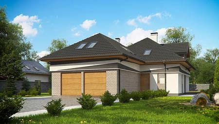 Комфортный дом с мансардой в европейском стиле