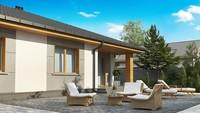 Бюджетный вариант одноэтажного дома 4M470 без гаража