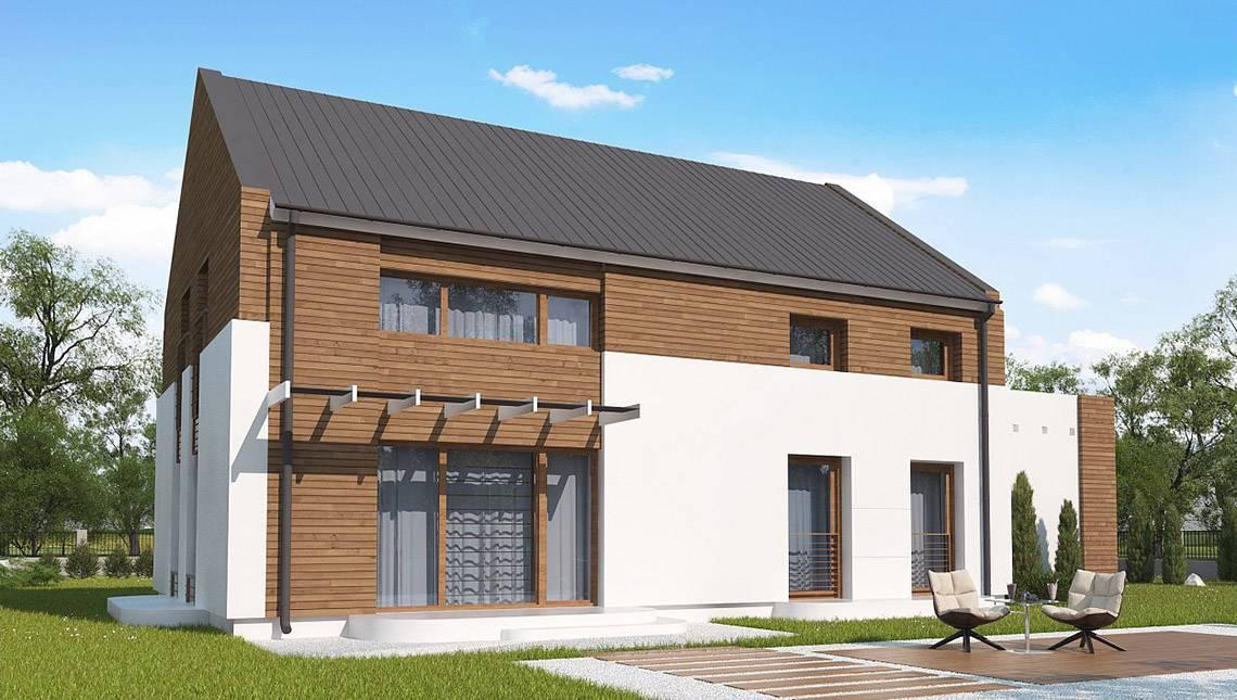 Двухэтажный дом по типу 4M600 с гаражом