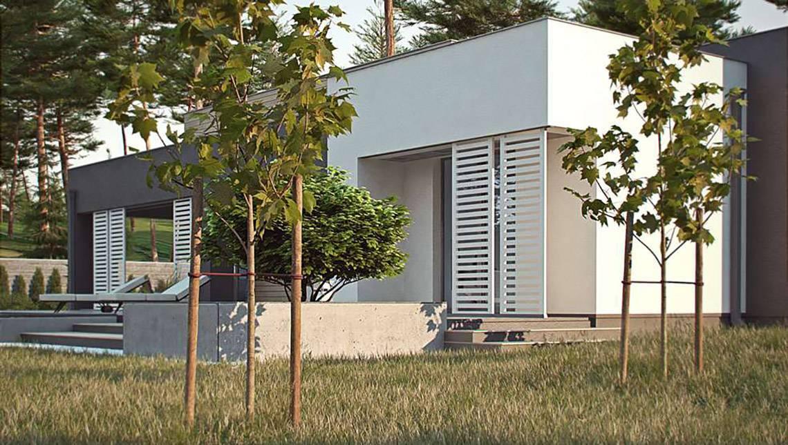 Проект современного комфортного одноэтажного дома
