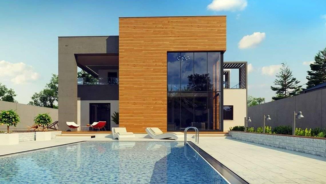 Проект шикарного современного двухэтажного дома со вторым светом