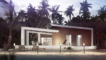 Современный дом с оригинальным фасадом и стильной террасой