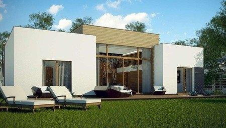 Проект современного дома с просторной гостиной