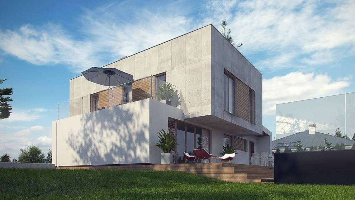 Оригинальный дом в минималистическом стиле