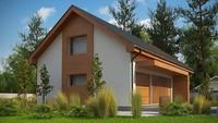 Проект дома с просторной мансардой в европейском стиле