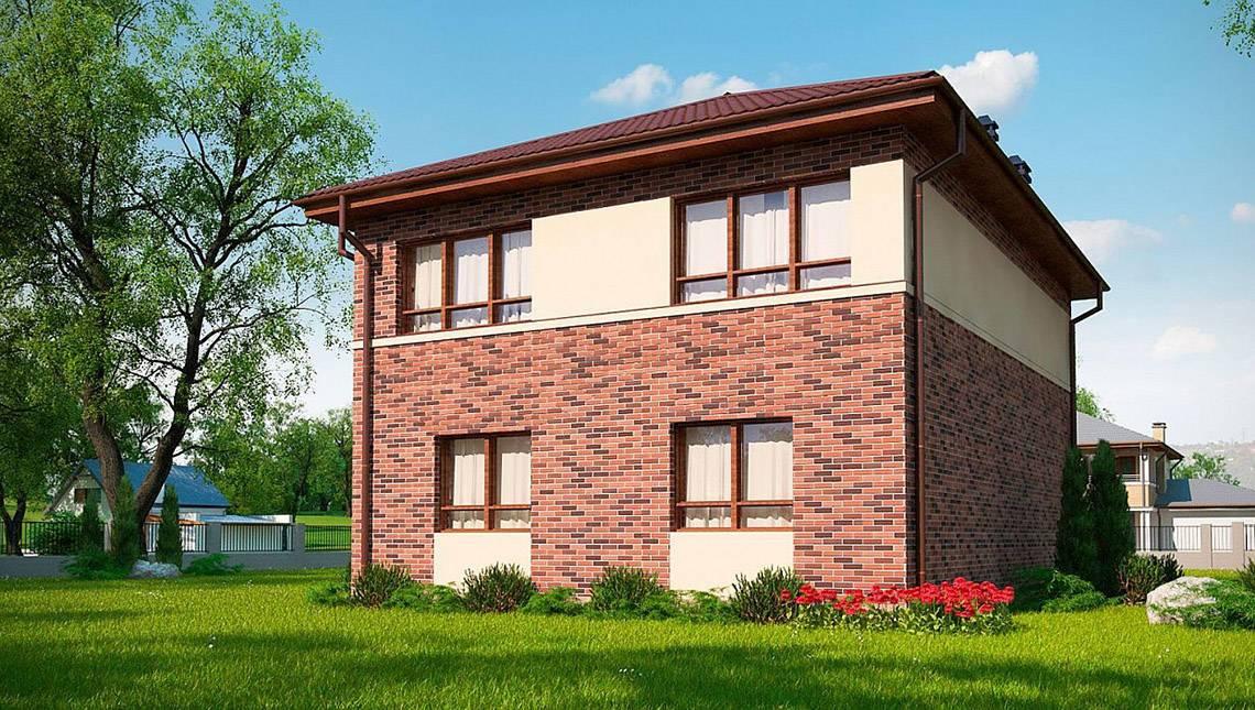 Классический двухэтажный дом по типу 4M628 без гаража