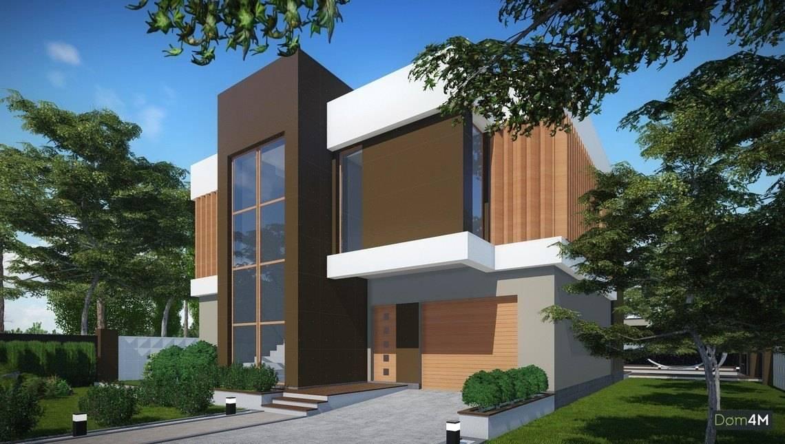 Красивый современный коттедж в стиле модерн