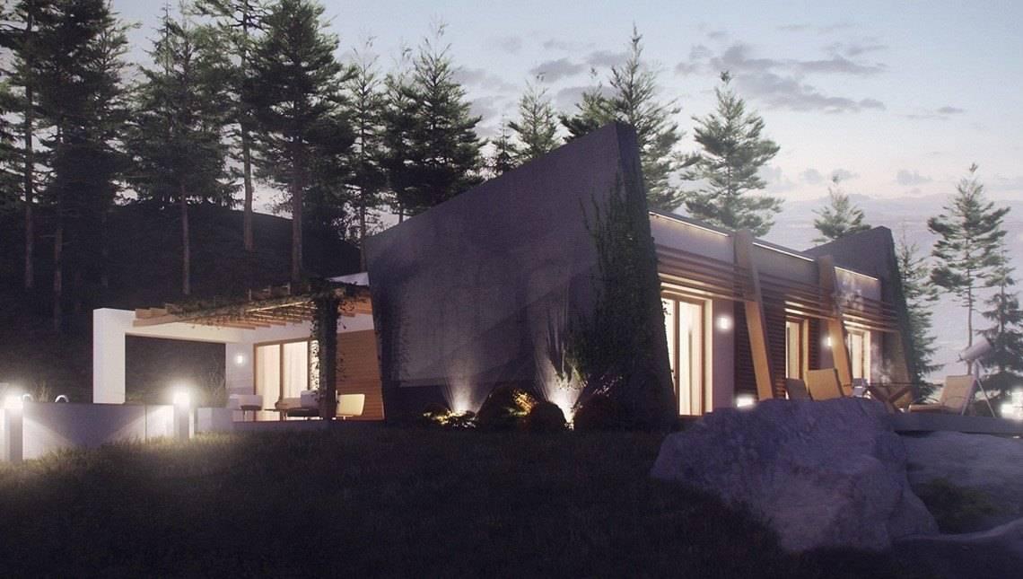 Проект дома в современном дизайне