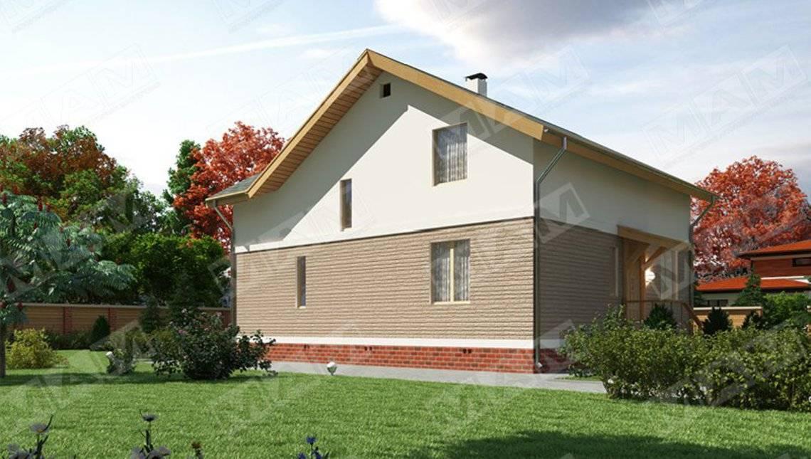 Архитектурный проект стильного недорогого дома